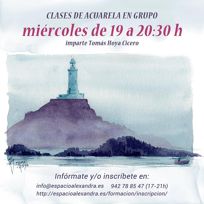 Clases de acuarela los miércoles de 19 a 20:30 horas, en Santander