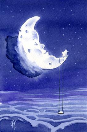 Acuarela de Tomás Hoya Cicero. Ilustración, fantasía, lirismo, watercolor