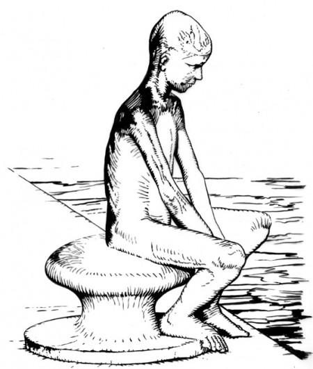 Dibujo De Tomás Hoya Cicero para los paneles informativos de la ciudad de Santander