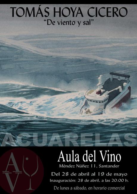 """Exposición """"De viento y sal"""", marinas en acuarela de Tomás Hoya Cicero"""