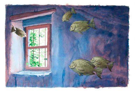 Oscuridad protectora, Tomás Hoya Cicero. Ilustración. Illustration. Distorsión natura.