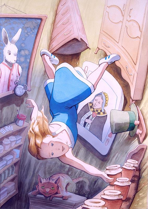 Alicia en el país de las maravillas, ilustración