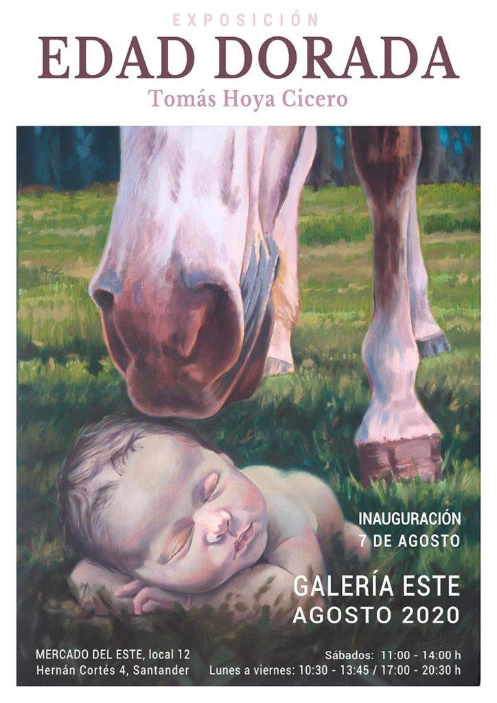 Cartel de la exposicón de pintura que Tomás Hoya Cicero expondrá en agosto de 2020 en Santander