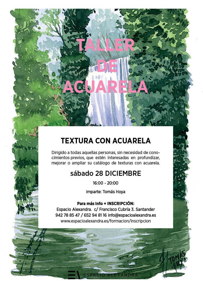 Talleres de texturas con acuarela impartido por Tomás Hoya Cicero