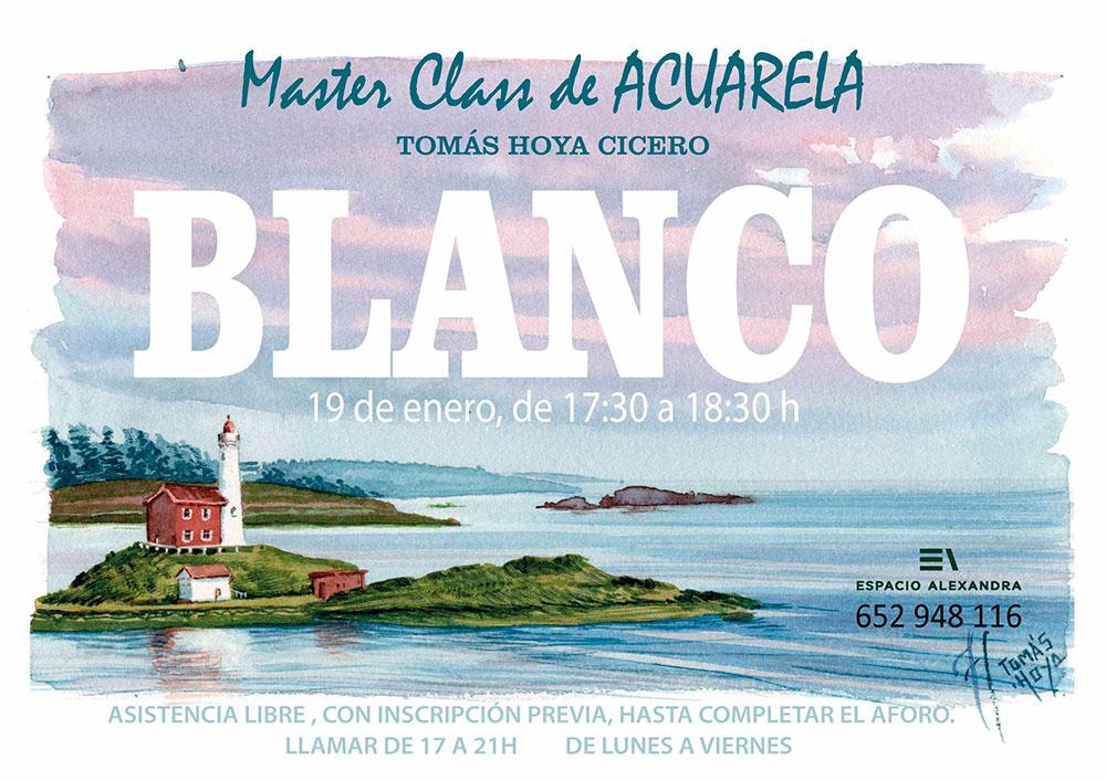 Charla magistral sobre el blanco en acuarela impartida por Tomás Hoya Cicero en Santander