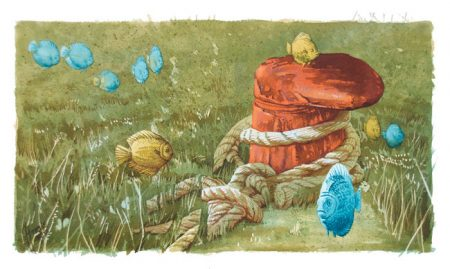 Cortando amarras, Tomas Hoya Cicero. Ilustración. Illustration. Distorsión natura