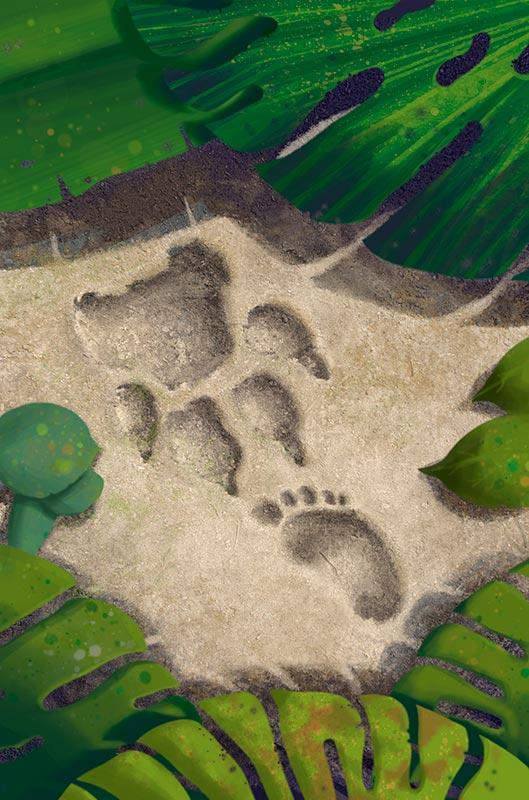 El libro de la selva, ilustración para portada