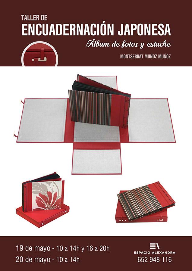 Taller de encuadernación japonesa, álbum de fotos y estuche. En Santander. Impartido pot Montserrat Muñoz.