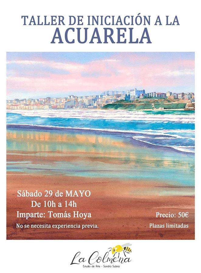 Taller de iniciación a la acuarela en el estudio de arte La Colmena, en Los Corrales de Buelna.