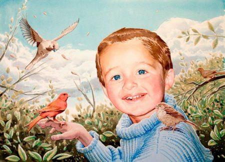 Retrato infantil. Retratos por encargo. Tomás Hoya Cicero, Santander.