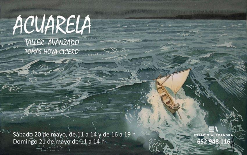 Taller de acuarela avanzada en mayo, en Santander.