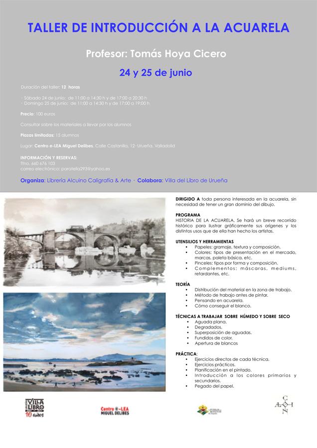Taller de acuarela en Urueña, Valladolid, por Tomás Hoya Cicero