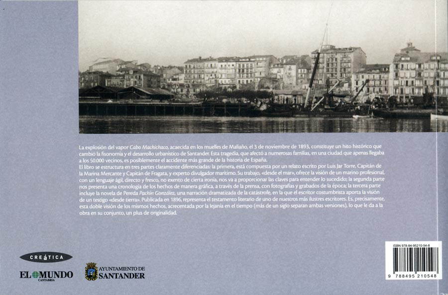 """Un desastre a la española, libro sobre la explosión vapor """"Cabo Machichaco"""" en Santander, en 1983. Ilustraciones de Tomás Hoya Cicero"""
