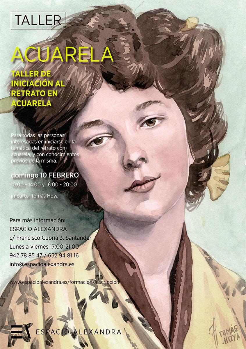 Taller de acuarela Iniciación al retrato, impartido por Tomás Hoya Cicero